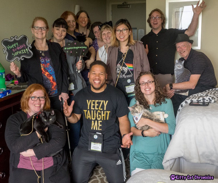 Celebrating Sophie's BlogPaws Birthday - All of the Guests